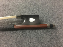 1PCS Brazilwood violin bow. Shield pattern mosaic. Ebony tail base. Silver wire winding. Violin Bow. #XG1902