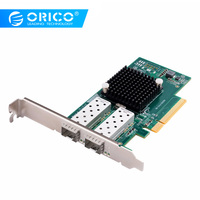 ORICO PCIE 2 Port 10 Gigabit Network Adapter Express Expansion Card For Desktop Computer Components Super Speed