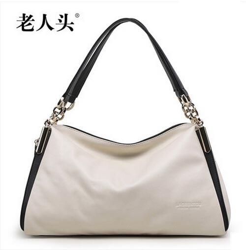 famous brands women bag 2016 new 100% genuine leather bag Top Quality  fashion panelled  women handbags Shoulder Bag 3 Color