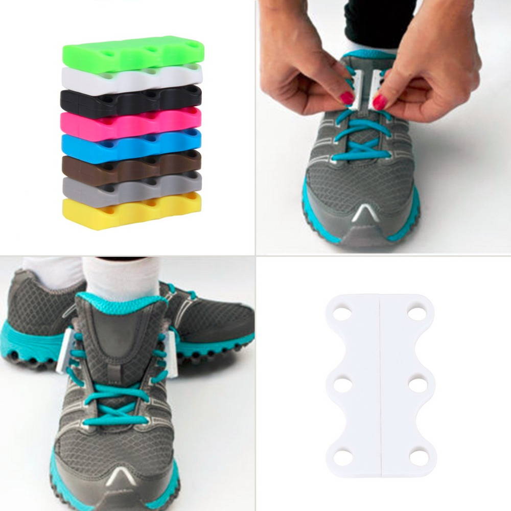 1 pair novelty magnetic casual sneaker shoe buckles closure no tie shoelace new 8 fashion color