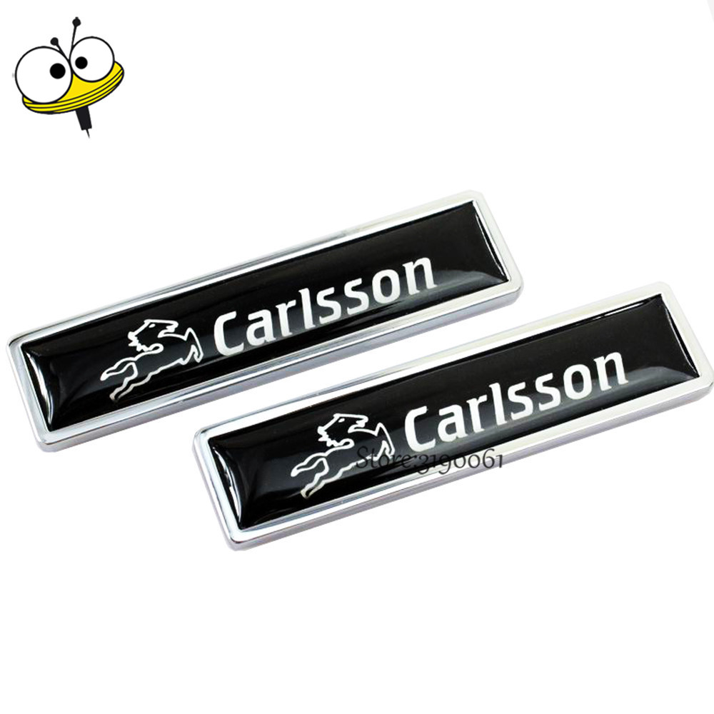 Car Styling Auto Car Sticker Emblem Badge Decal For Carlsson For Benz W203 W210 C180 A200 B300 R320 G500 ML GLK GLA CLA S G SLK black plastic a 160 a 180 a 200 rear trunk lid emblem letter sticker for mercedes benz a class w168 w169 w176 a180 a200 a200