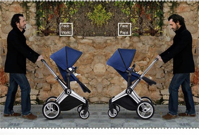 Babysing kinderwagen in für neugeborene reversible griff luxus