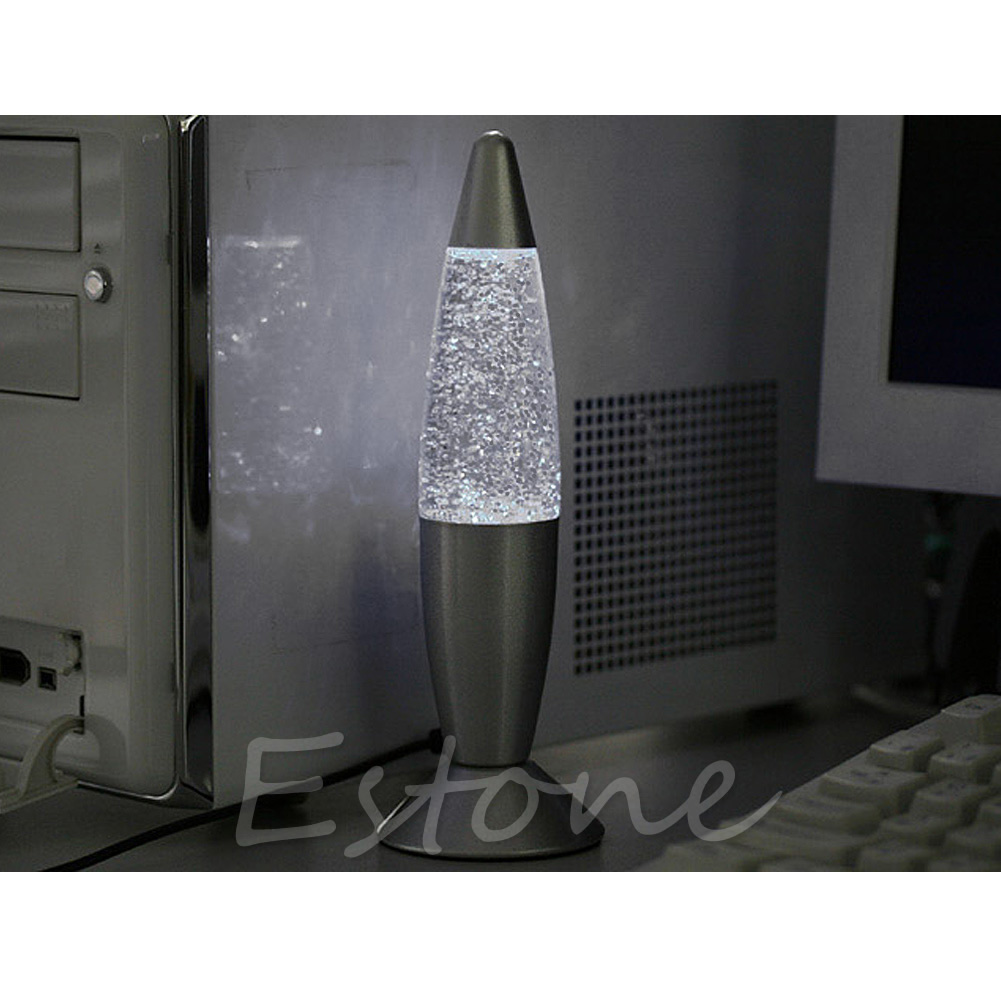 Usb multi changement de couleur lava lampe led glitter mood night light party decoration