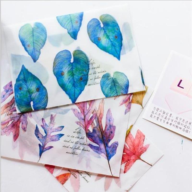 80pcs 160x110mm Translucent Frosted Paper Bag Wedding Business Invitation Envelopes Sulphate Paper Envelope Western-style Envelo