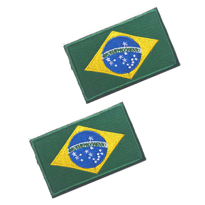 Brazil Patch Embroidered Iron On Badge Applique Brazilian Brasil