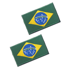 5pcs Embroidery Badge Brazilian National Flag Of Brazil Military Embroidered Badges Tactical Patch For Outdoor Clothing Cap Bag fashion lady shoulder bag short trip design soft knit bag reusable casual ladies beach handbag luxury high capacity open pocket