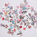 Heart love animal crystal alloy,Resin Mixed Float Charms for Glass Memory Lockets Wholesale 50pcs/Lot
