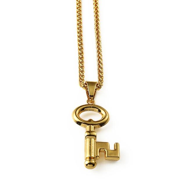 Nyuk hot sale hip hop style vintage gold men rock jewelry key nyuk hot sale hip hop style vintage gold men rock jewelry key pendant statement necklace chain aloadofball Gallery