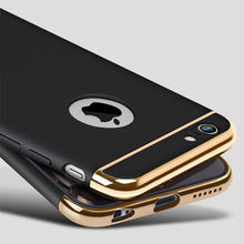 for iPhone 7 Case Luxury Ultra Thin 3in1 Hybrid Plating Hard Matte Armor Silicone Case for iPhone 6 6S 7 Plus Cover Fundas Coque
