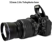 52mm 2.0x telelens voor nikon d90 d80 d700 d3000 d3100 d3200 d5000 d5100 d5200 18-55mm dslr-camera(China)
