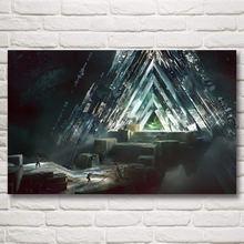 Постер из шелковой ткани foocome видеоигра печатные картинки