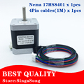 CE certification 4-lead Nema17 Stepper Motor 48mm length / 78Oz-in / 1.8a Nema 17 motor 42BYGH (17HS8401) motor for CNC XYZ Axis