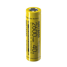 1 PC NITECORE of IMR18650 2600mAh 40A 3.7V Li-Ion Protected Rechargeable High Performance Battery for Vaping Devices 1 pc nitecore 3100 mah imr18650 10a 3 6 v high performance rechargeable li ion protective li ion for tm28 c1 flashlight