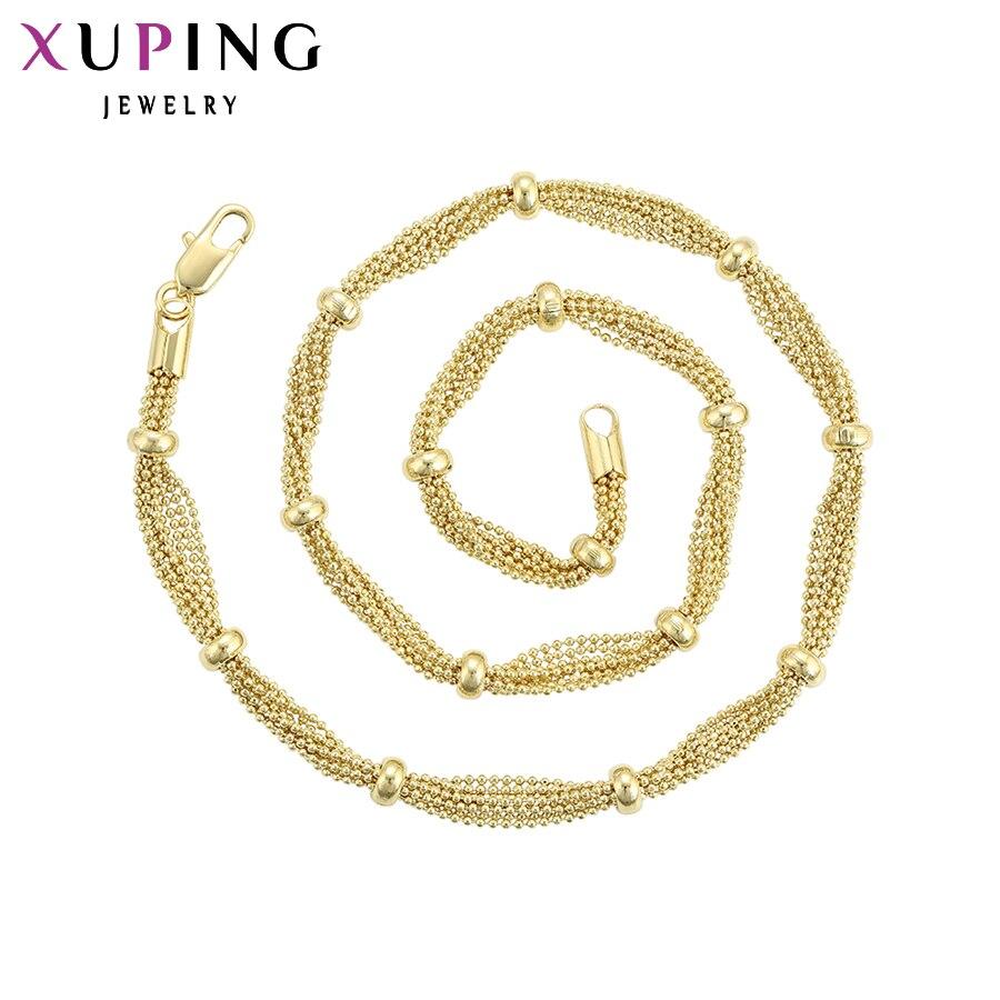 11,11 сделок Xuping модные элегантные Цепочки и ожерелья Сеть ювелирных светло-желтого золота Цвет для Для женщин Рождество подарки S97-44962