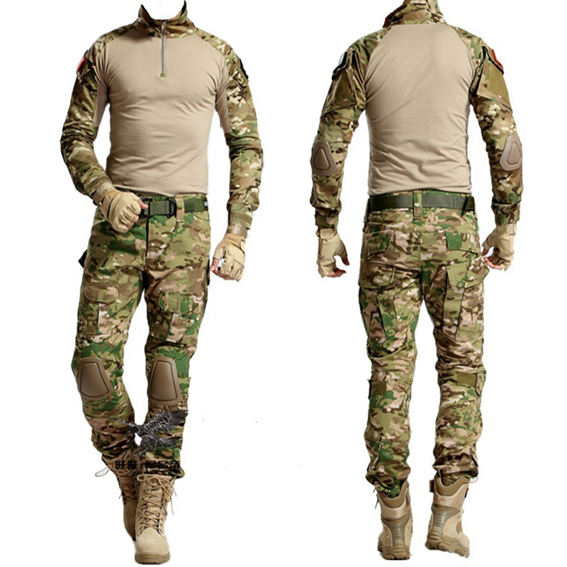 Tactical Army Combat Training Clothing Sniper Uniform Men Military Shooting Camouflage Hunting Clothes