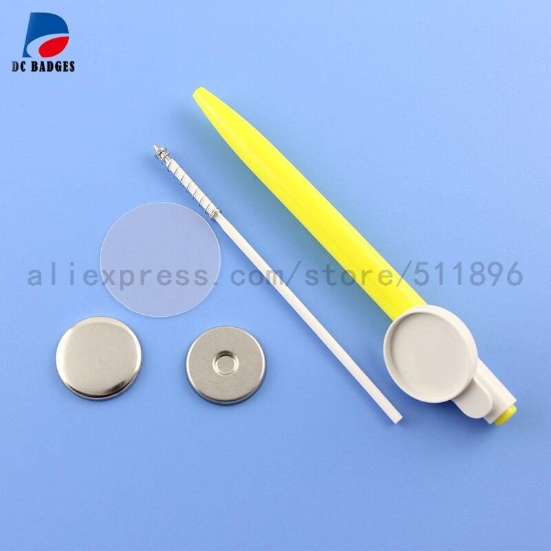 """100 наборов """" 25 мм шариковая ручка материал кнопки машина для изготовления значков частей"""