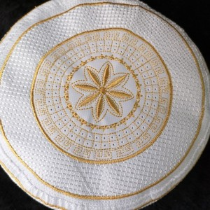 Image 2 - 60cm Yellow Yarmulke Kippah Prayer Hijab Hats Bonnet Satin Bonnet Musulman Saudi Arabia Cap Mens Jewish Kippah Yarmulke Kipa Cap