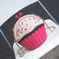 2017 Новая Мода Прекрасный Кубок Торт мешок алмазов партия повседневная кошелек дамы цепи сумки на ремне сумки crossbody мини сумка