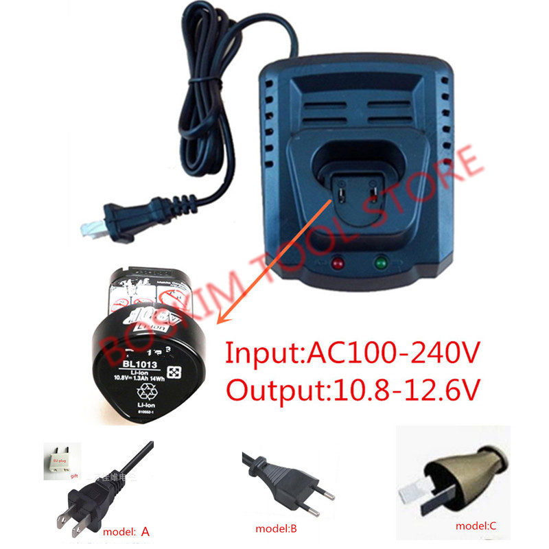 AC110-240V Replace Charger for Makita BL1013 BL1014 10.8V 12V Li-ion Battery DC10WA DC10WB DF030D DF330D DF030DWE TD090D HP330D ac220 240v charger uc18yksl replace for hitachi 14 4v 18v li ion battery uc18yrsl bsl1415 bsl1420 bsl1440 bsl1450 uc18ygsl
