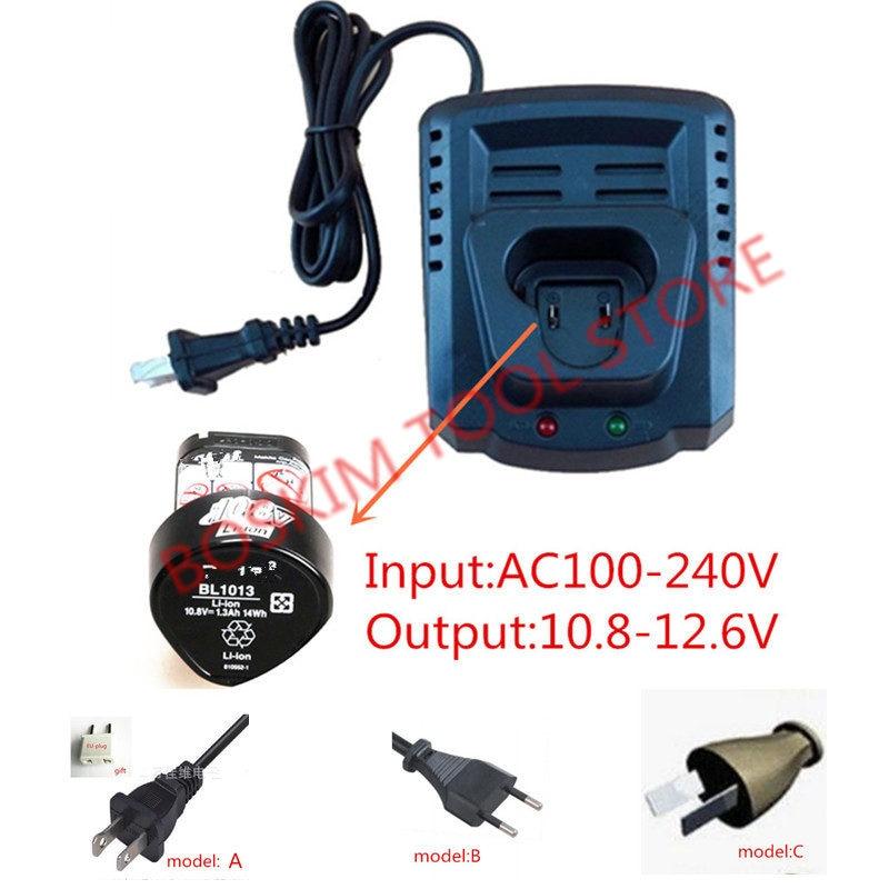 AC110-240V Replace Charger For Makita BL1013 BL1014 10.8V 12V Li-ion Battery DC10WA DC10WB DF030D DF330D  DF030DWE TD090D HP330D
