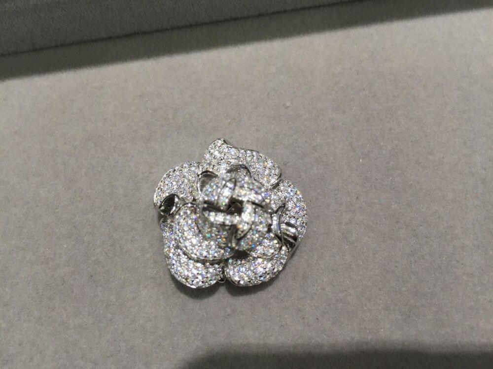 Высочайшее качество DIY цветок ювелирных застежка для ожерелье или браслет Jewerlry изделий Компоненты 925 серебро с фианит