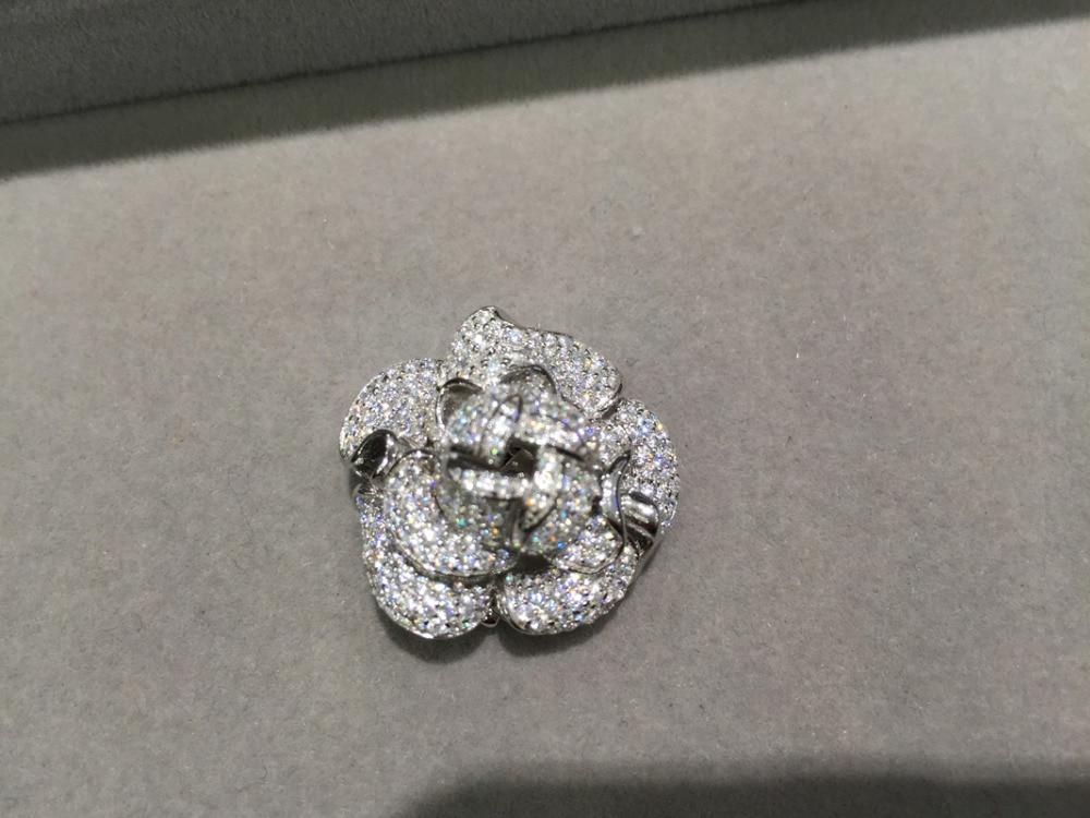 Top qualité bijoux de fleurs bricolage fermoir pour collier ou bracelet bijoux résultats composants 925 argent sterling avec zircon cubique