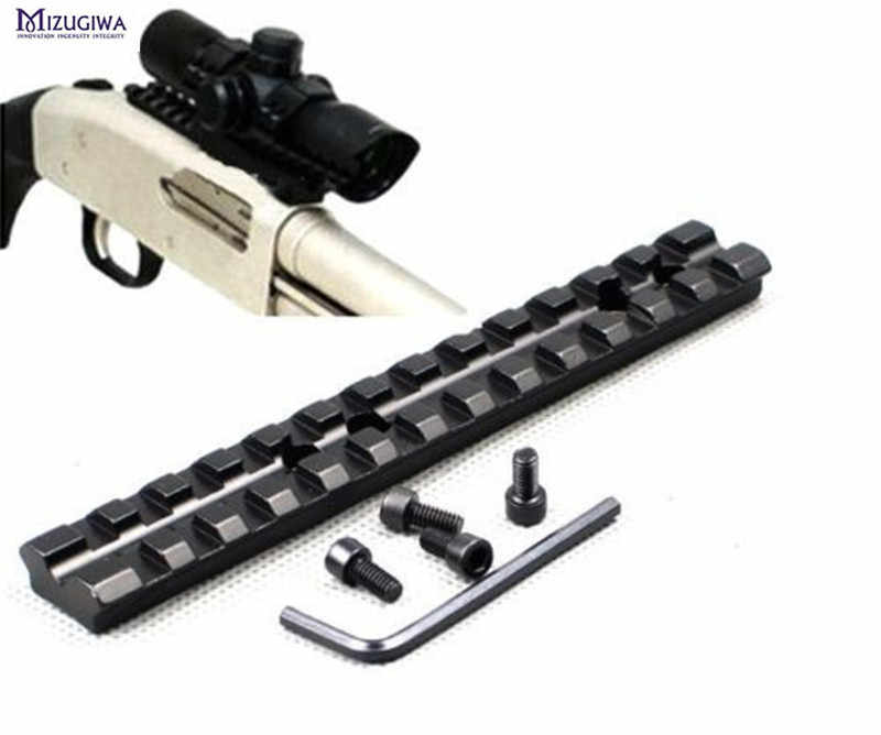 Tactical Scope Rail 14 Cm/5.5 Inch 13 Slots Aluminium Picatinny/Wever Scope Sight Zaklamp Lazer Mount + 4x Schroeven + Inbussleutel