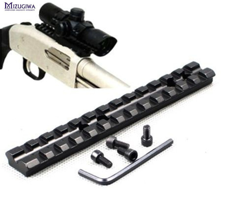 Tactical Scope Rail 14cm/5.5inch 13 Slots Aluminum Picatinny/Weaver Scope Sight Flashlight Lazer Mount +4x Screws + Allen Wrench