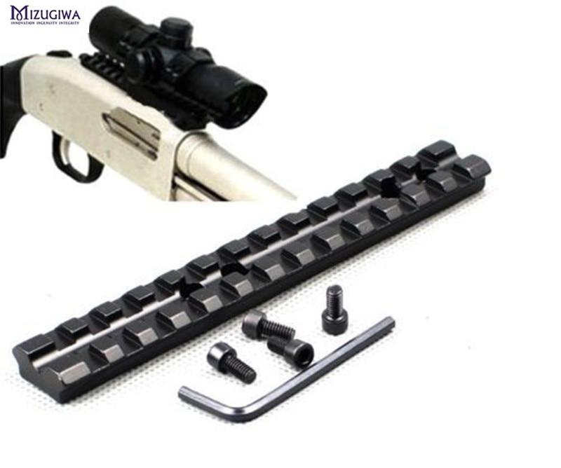 Tactical Scope Rail 14cm/5.5inch 13 Slots Aluminum Picatinny/Weaver Scope Sight Flashlight Lazer Mount +4x Screws + Allen Wrench
