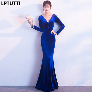 LPTUTTI Beading VELOUR Gratuating New For Women Elegant Date Ceremony Party Prom Gown Formal Gala Luxury Long Evening Dresses