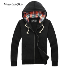 Mountainskin Men's Jackets Hooded Spring Autumn Coat Hoodies Casual Hooded Coat Male Cotton Sweatshirts Brand Clothing LA109