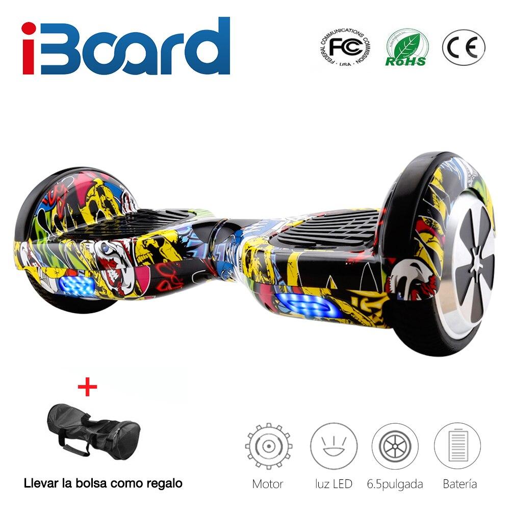 Hoverboards électriques de Scooter d'équilibrage d'individu de 6.5 pouces avec le sac de transport de haut-parleur de Bluetooth