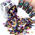 VENTA CALIENTE 1 Nuevo Diseño de botella Nail Art Decoraciones Rombo Paillette Color Nix Glitter Nails Glitter 3D Rebanada Polvo ND296