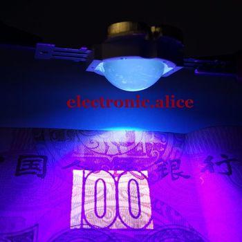 10 W 높은 전원 LED 램프 자외선 UV 395nm 900mA 12 V + 60도 len 5 pcs