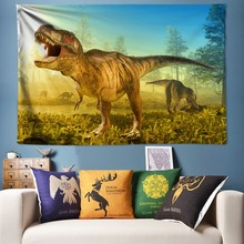 Dinosaur Tapestry Wall Hanging Natural Forest Large 200*300cm Kids Bedroom Anime Animal Decoration Big Fabric