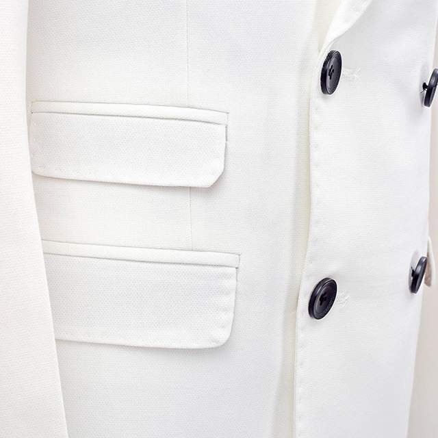 f394cdebb47a brand clothing slim fit men suits white tuxedo coat/pant 2pc double  breasted groom wedding