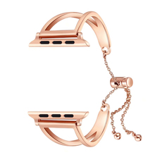 Women Cuff Stainless Steel Bracelet 38 42mm Jewelry Wristbands Pendant Watch Band Strap Tassel Bangle For Apple