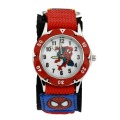 2017 Children Cartoon Spiderman Watch Fashion Boys Kids Students Spider-Man Nylon Sports cartoon-watch Analog quartz watch