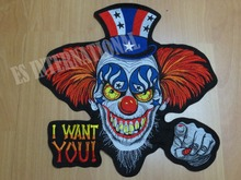 11.8 inches American flag hat I WANT YOU large Embroidery Patches for Jacket Motorcycle Biker 30cm * 30 cm