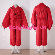 High Quality Stock Japanese Anime Inuyasha Red Inuyasha Cosplay Costume Simple Style For Halloween Christmas