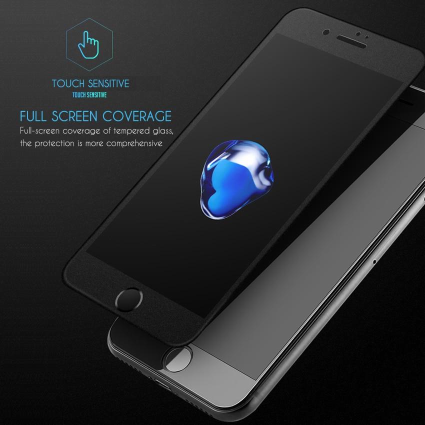İphone 6 şüşə film 9H sərtlik 6s plus anti-barmaq izi iPhone 7 - Cib telefonu aksesuarları və hissələri - Fotoqrafiya 3