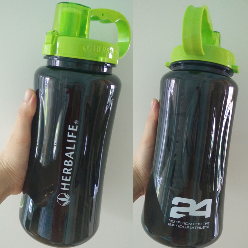 Portable Water Bottle : Ml black color large size herbalife nutrition