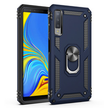 Case For Samsung Galaxy A7 2018 A750 Dual Layer Magnetic Military Armor With Ring Stand Cover (2018)