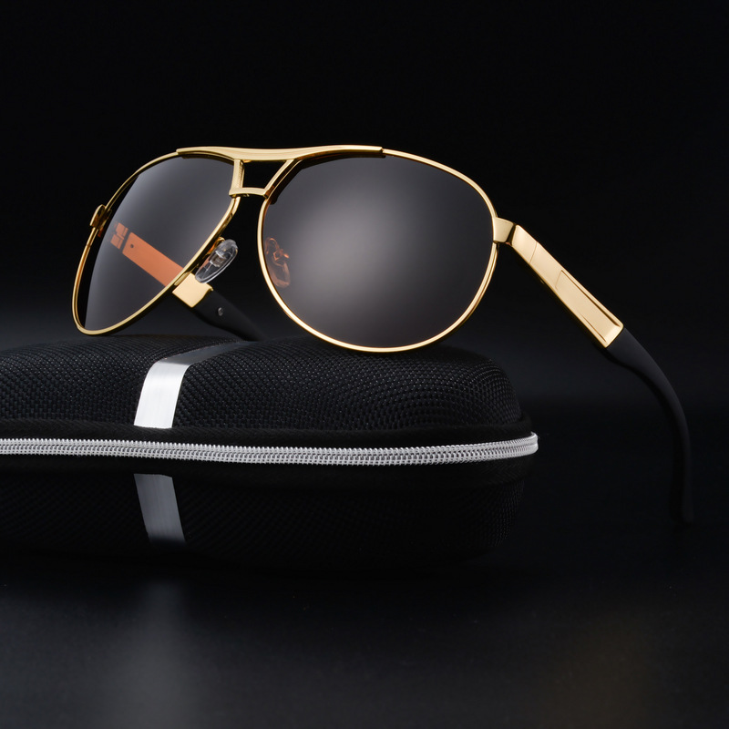 2017 Klasické polarizované jízdní brýle Pánské značkové značkové brýle s brýlemi Pánské slitiny na brýle Sluneční brýle UV400 Oculos De Sol