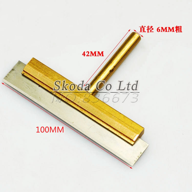 LOCA UV Glue Clean Tool 60W 100mm T Solder Iron Tip With Blade Soldering Iron Old Glue Remove For LCD Separator Machine