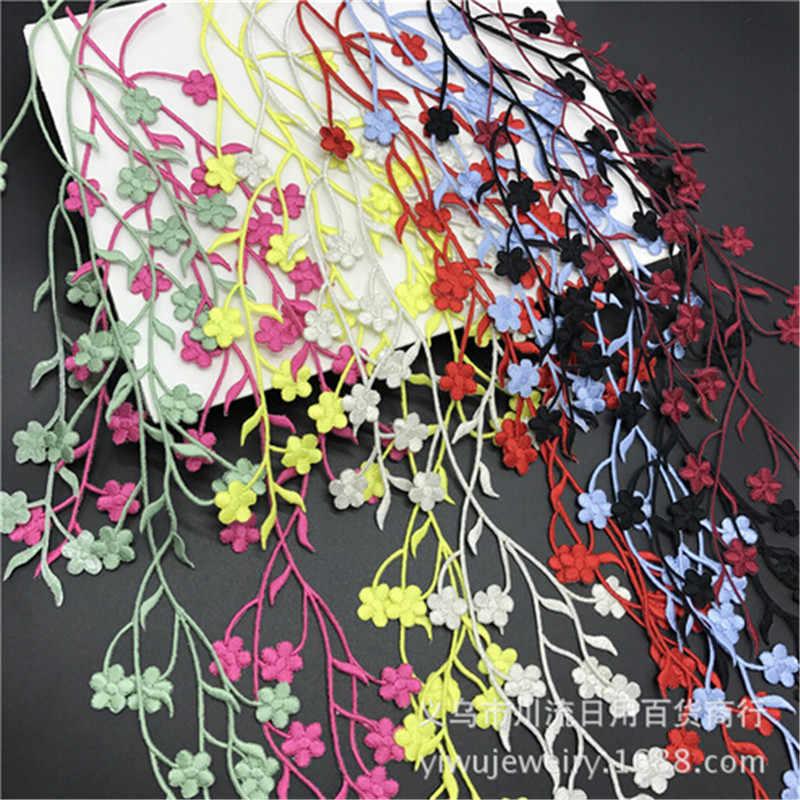 1 шт. 47 см красивое свадебное платье с горячей фиксацией Цветочная вышивка железные кружевные нашивки-аппликации Цветочная отделка DIY ремесло KW0167