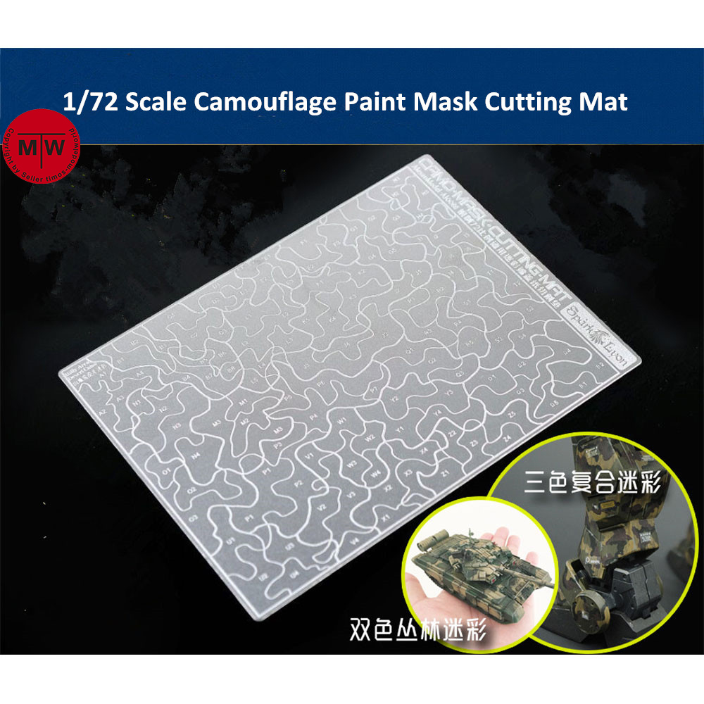Forest Desert Camouflage Paint Mask Cutting Pad Mat Model Building Tools For 1/72 1/100 1/144 Scale Model AJ0088