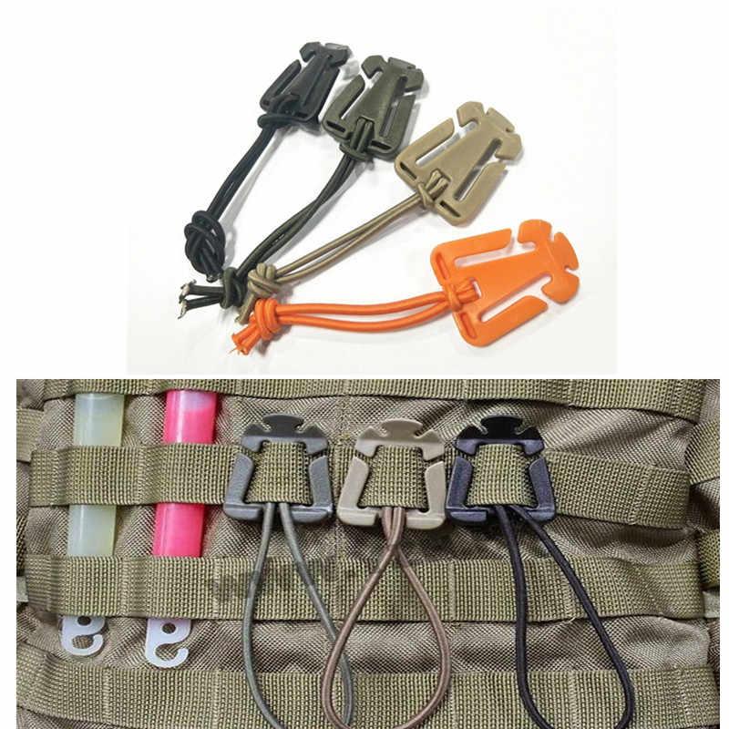 2 adet/grup ITW Dominator Molle Naylon Sırt Çantası Çanta Askısı Çantanıza EDC Araçları Elastik Halat Dokuma Toka Sarıcı Kamp Çok Aracı