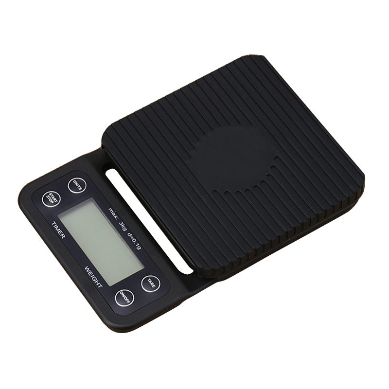 Portable Electronic Scale with Timer 3kg/0.1g LCD Digital Kitchen Coffee Scales Weighing tool libra Precision Jewelry Scale portable 1 7 lcd digital kitchen timer green white black