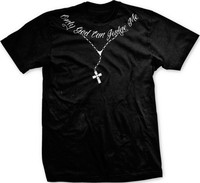 Only God Can Judge Me Christian Cross Rosary Tupac Tattoo Script Mens T Shirt 2pac Hip